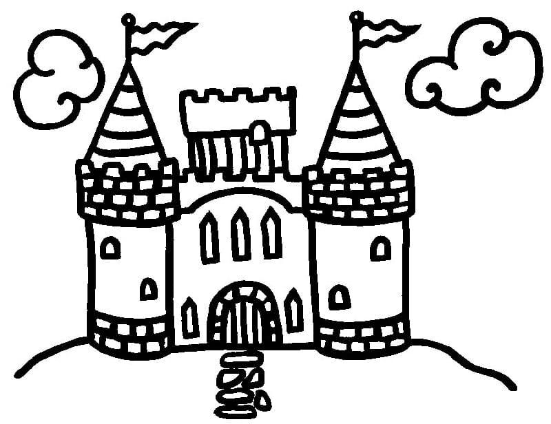 Desenhos de Castelo para colorir