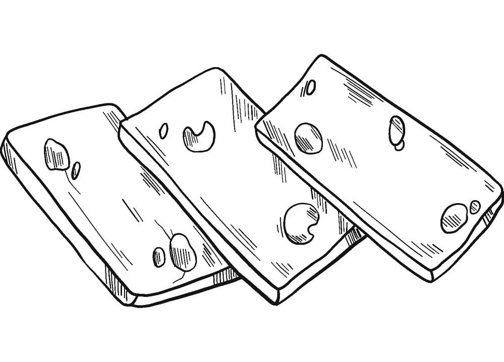 Desenhos de Fatia de Queijo 1 para colorir