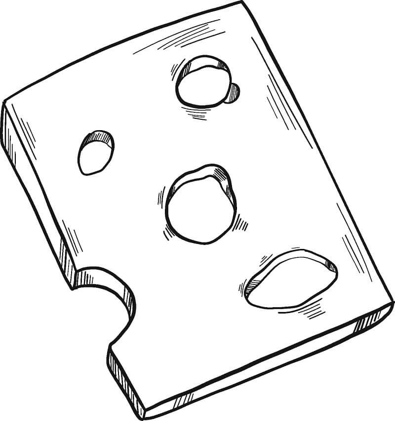 Desenhos de Fatia de Queijo 2 para colorir