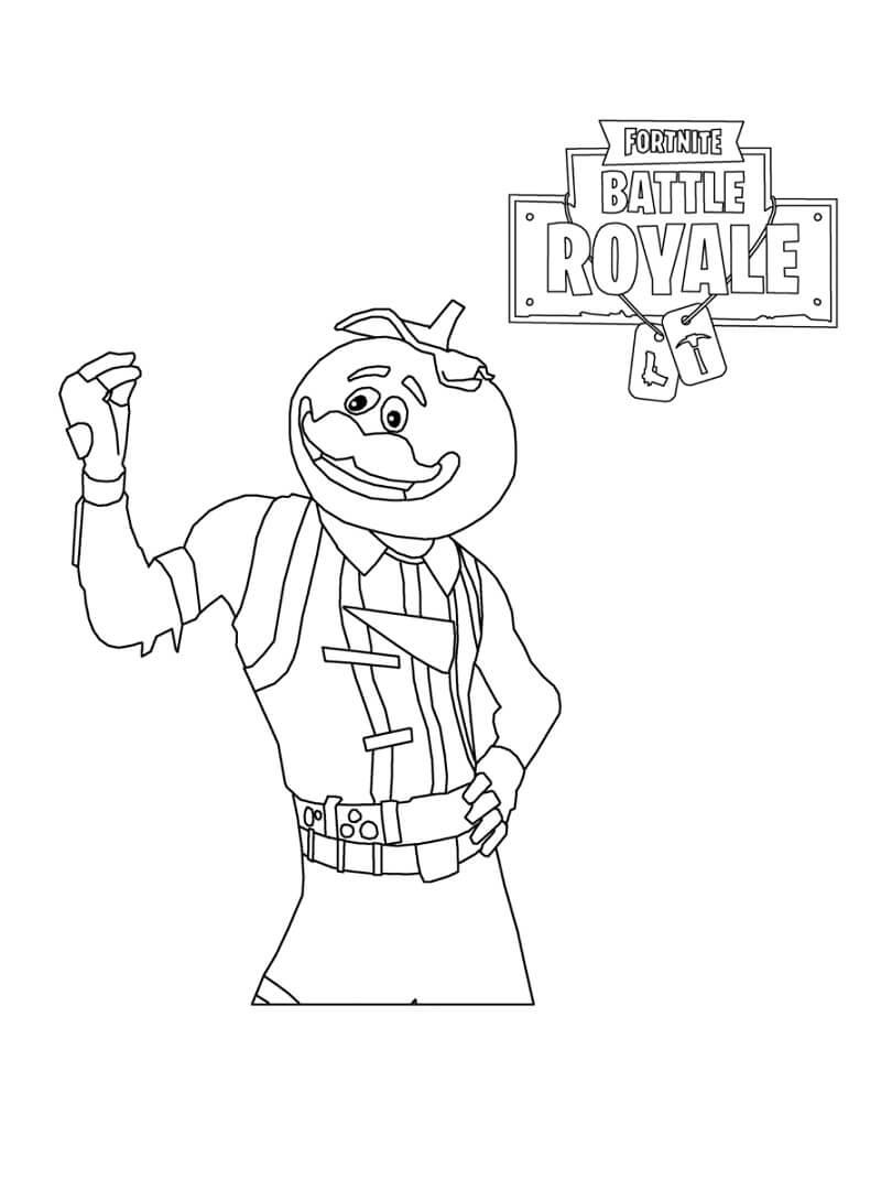 Desenhos de Fortnite Tomato Head para colorir