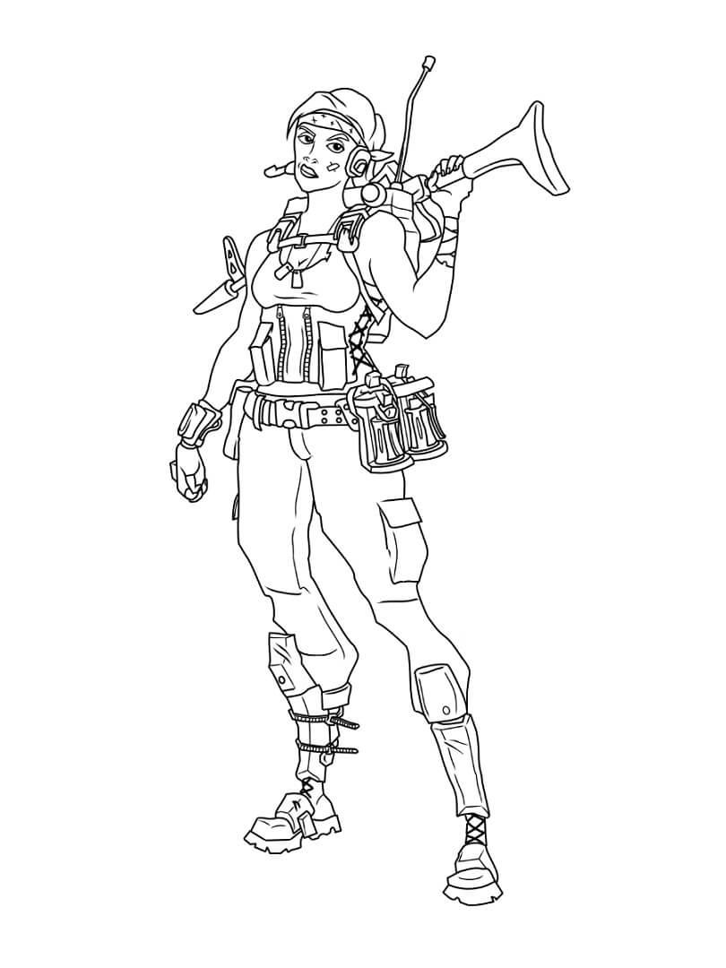 Desenhos de Fortnite 3 para colorir