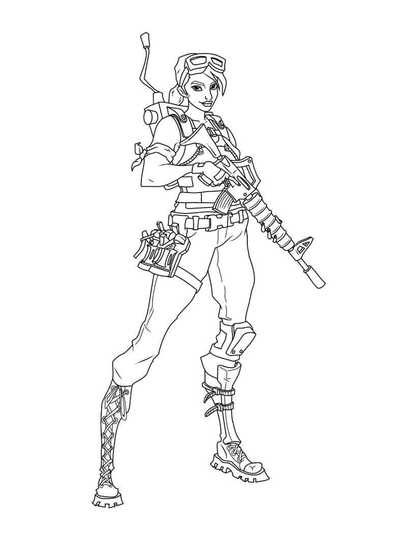 Desenhos de Fortnite 4 para colorir