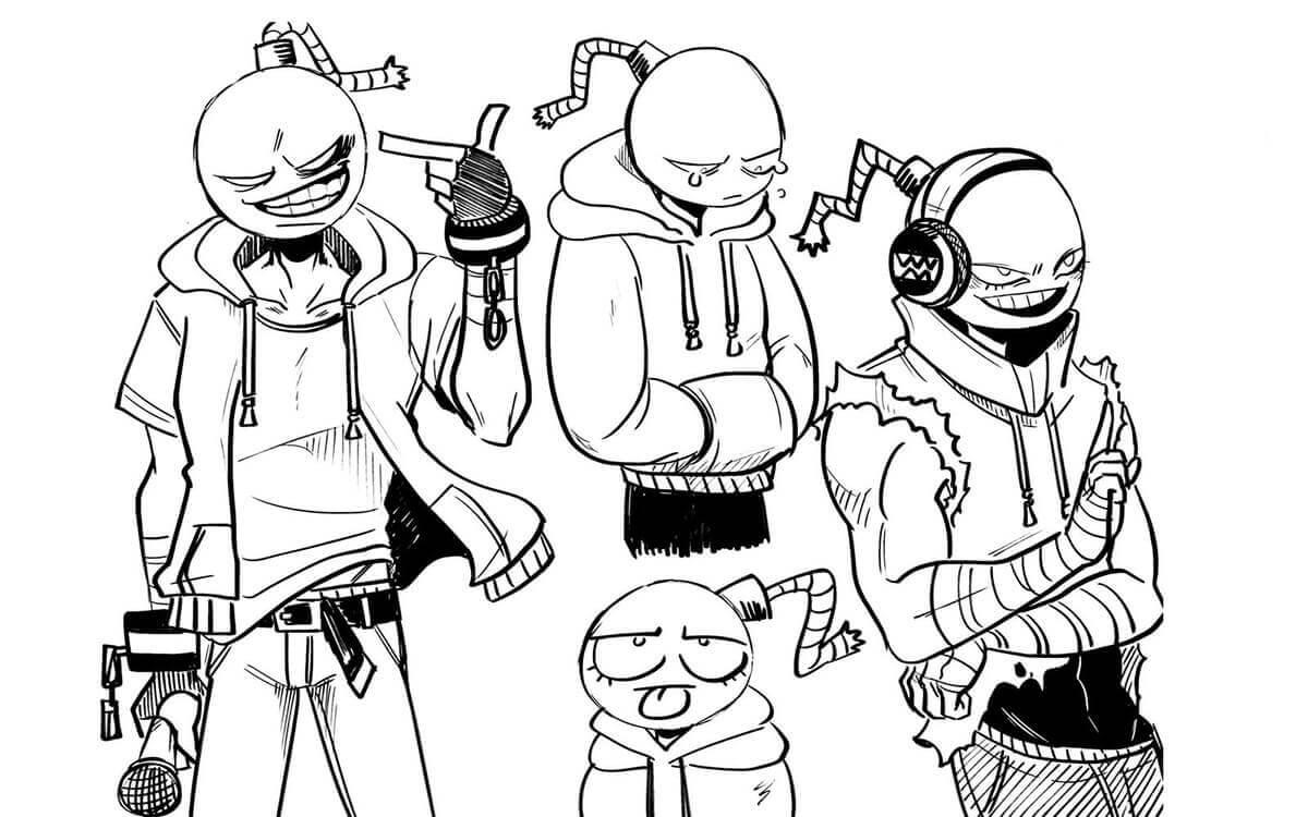 Desenhos de Friday Night Funkin 10 para colorir