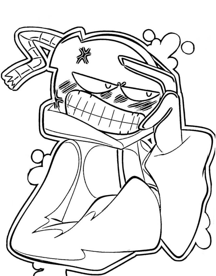 Desenhos de Friday Night Funkin 14 para colorir