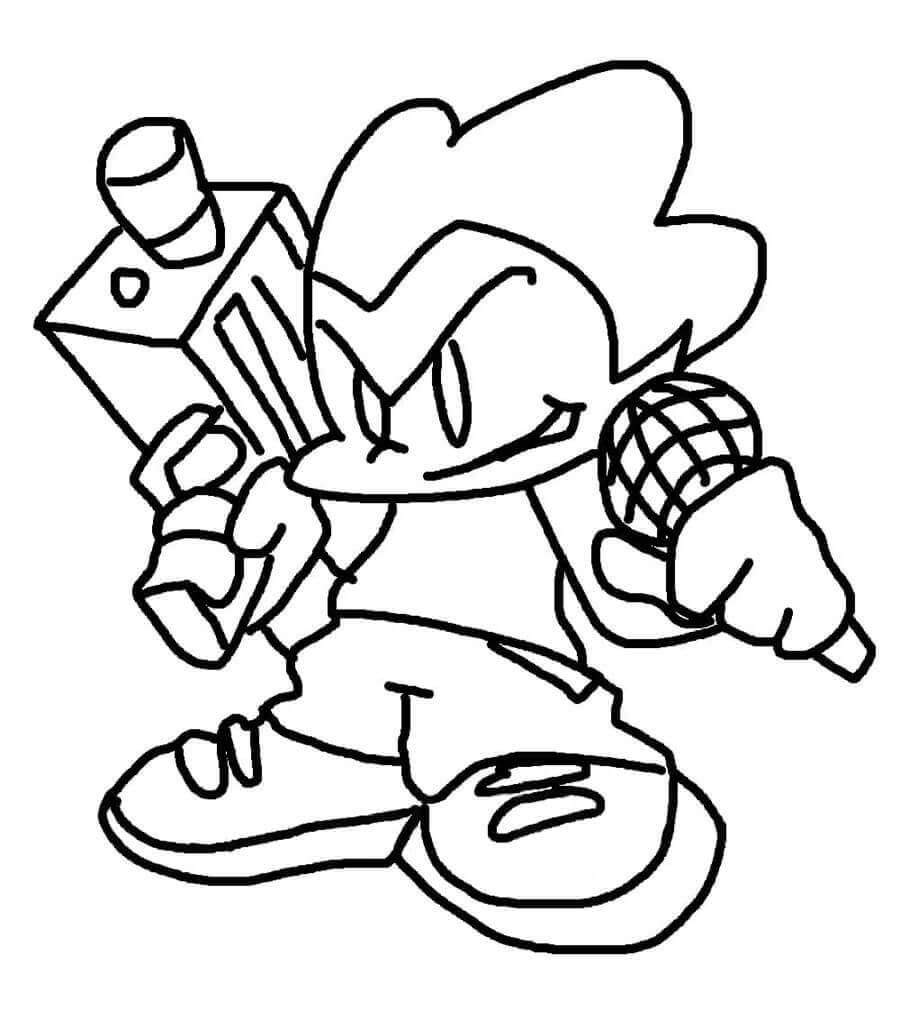 Desenhos de Friday Night Funkin 17 para colorir