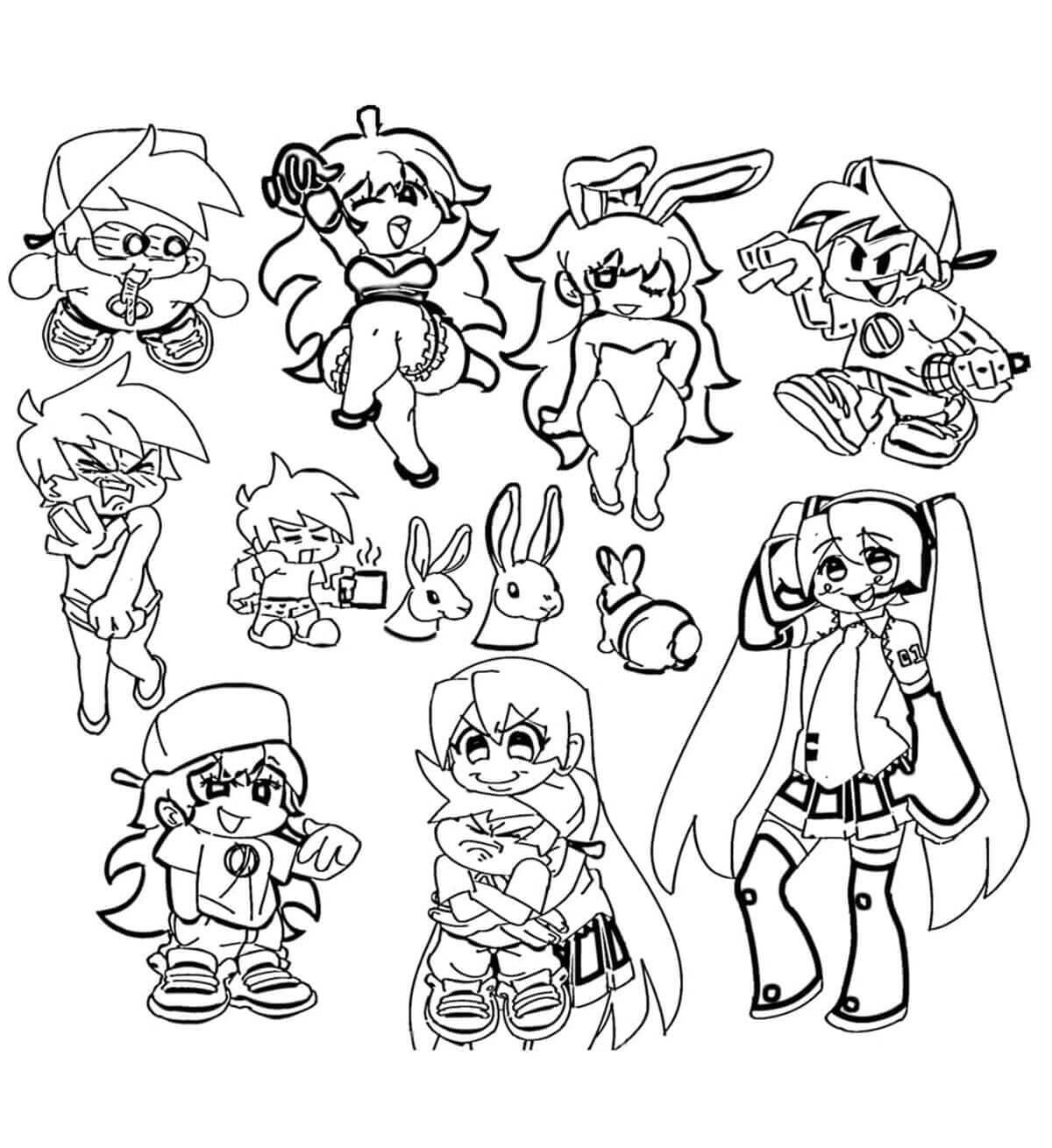 Desenhos de Friday Night Funkin 29 para colorir