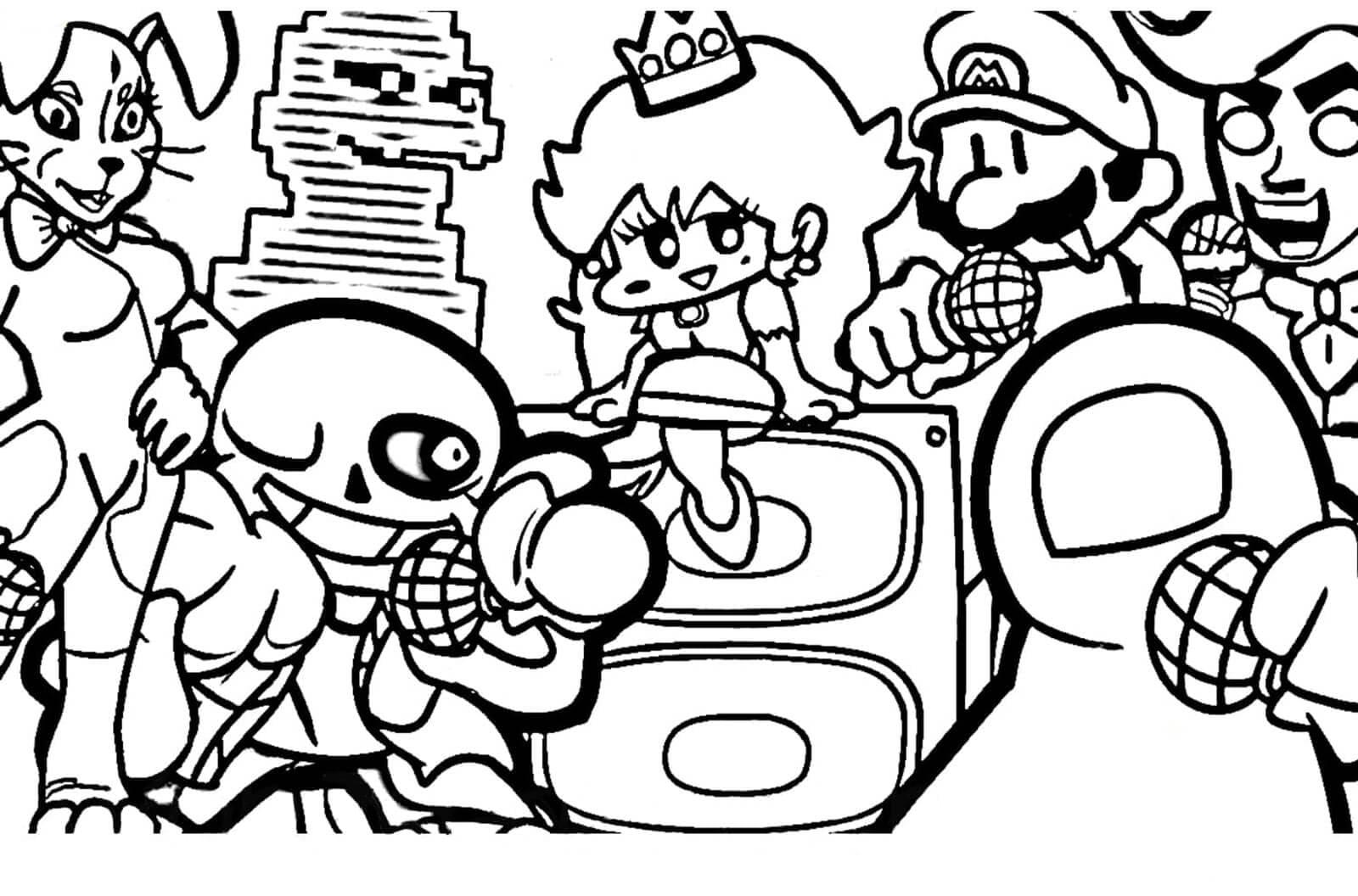 Desenhos de Friday Night Funkin 36 para colorir
