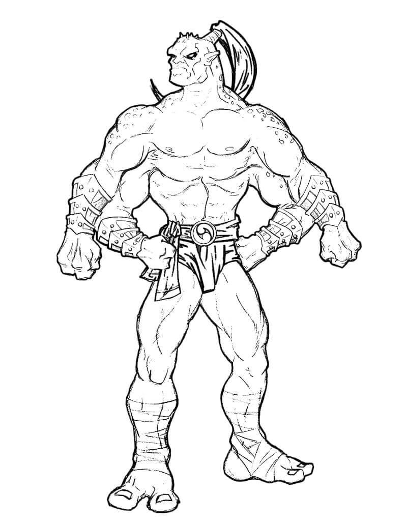 Desenhos de Goro Mortal Kombat para colorir