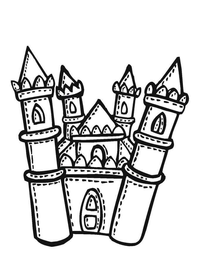 Desenhos de Grande Castelo 1 para colorir