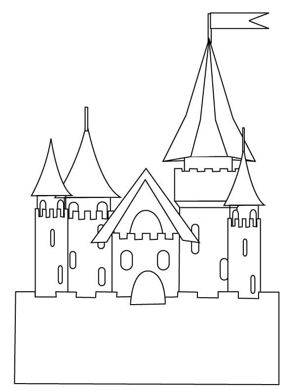 Desenhos de Grande Castelo 2 para colorir