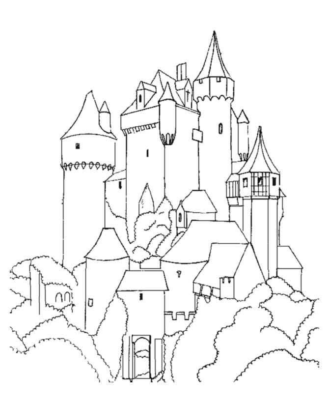 Desenhos de Grande Castelo 3 para colorir