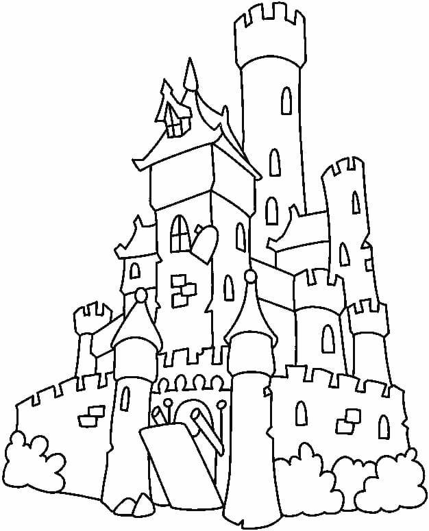 Desenhos de Grande Castelo 4 para colorir