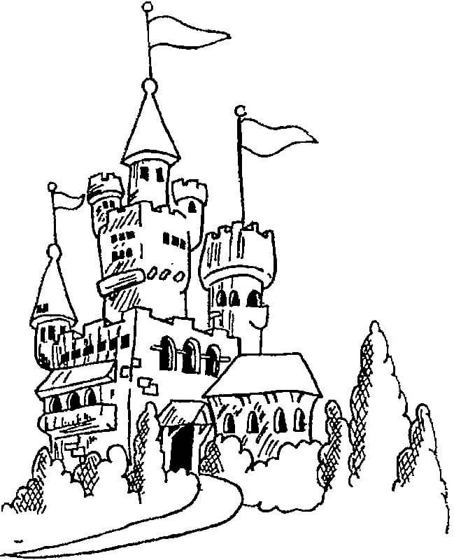 Desenhos de Grande Castelo 5 para colorir
