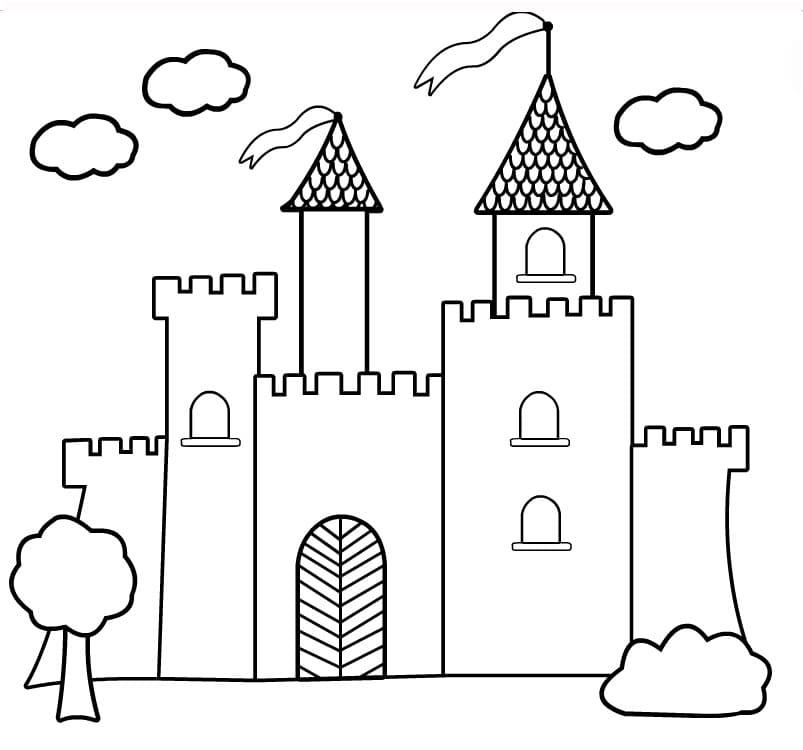 Desenhos de Grande Castelo para colorir