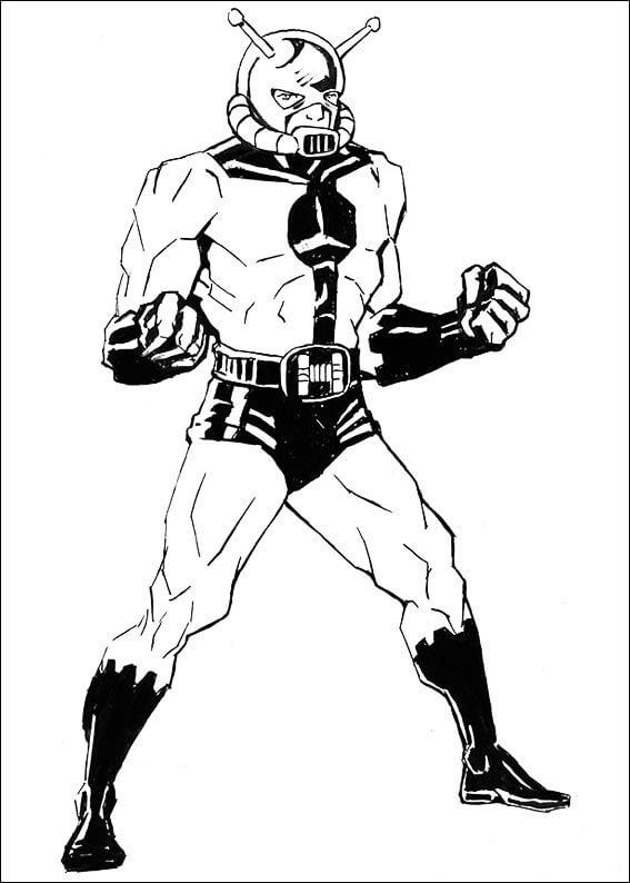 Desenhos de Homem Formiga Incrível 3 para colorir