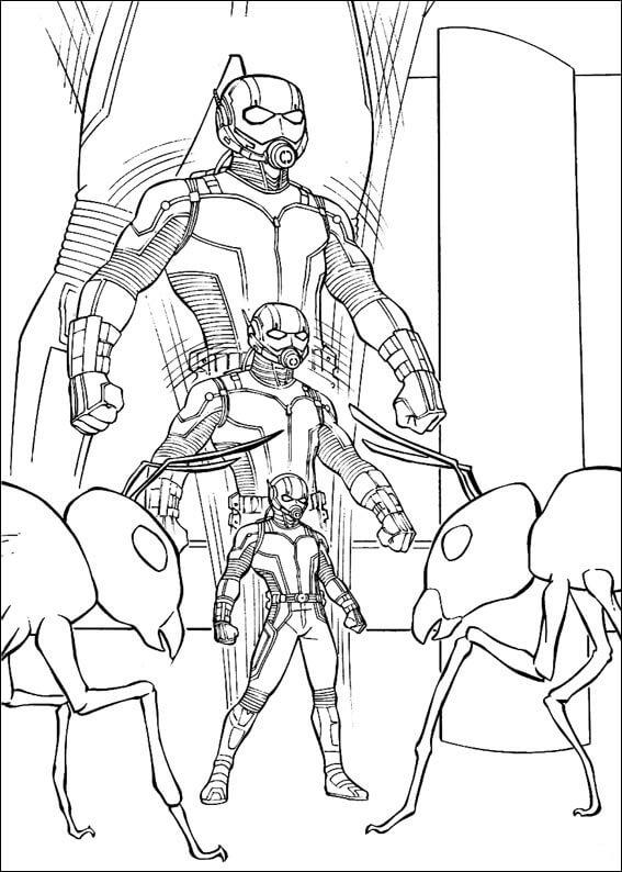 Desenhos de Homem Formiga Incrível 4 para colorir
