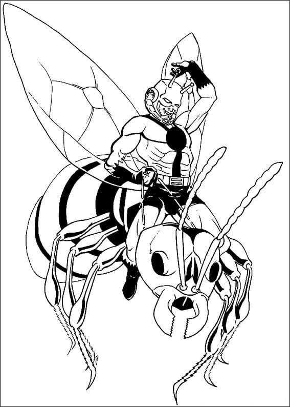Desenhos de Homem Formiga Incrível 6 para colorir