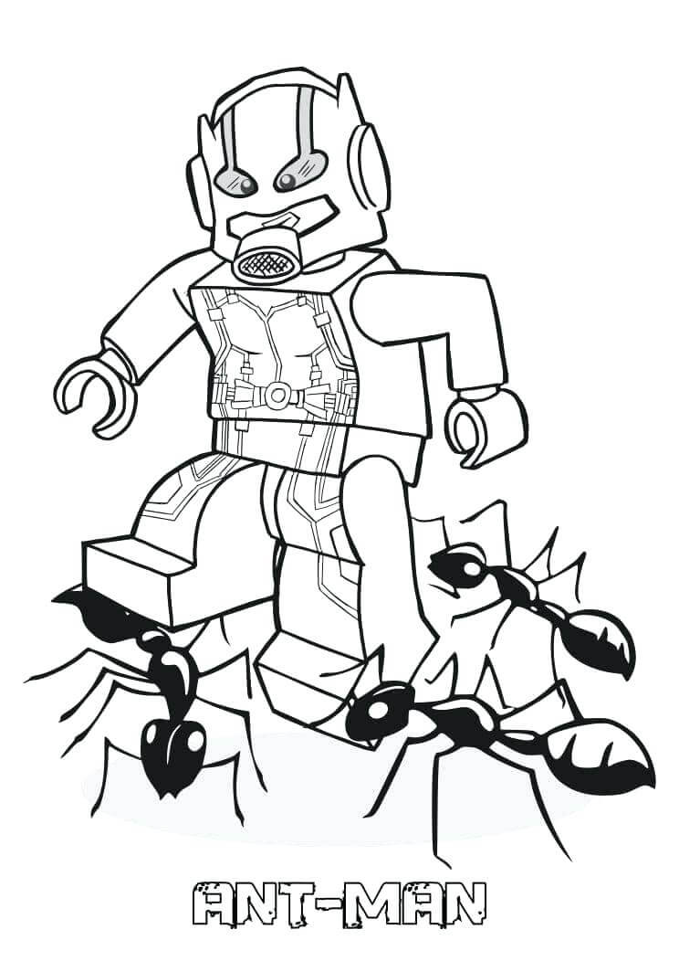 Desenhos de Homem Formiga Lego 1 para colorir