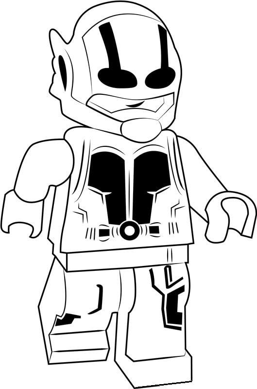 Desenhos de Homem Formiga Lego para colorir