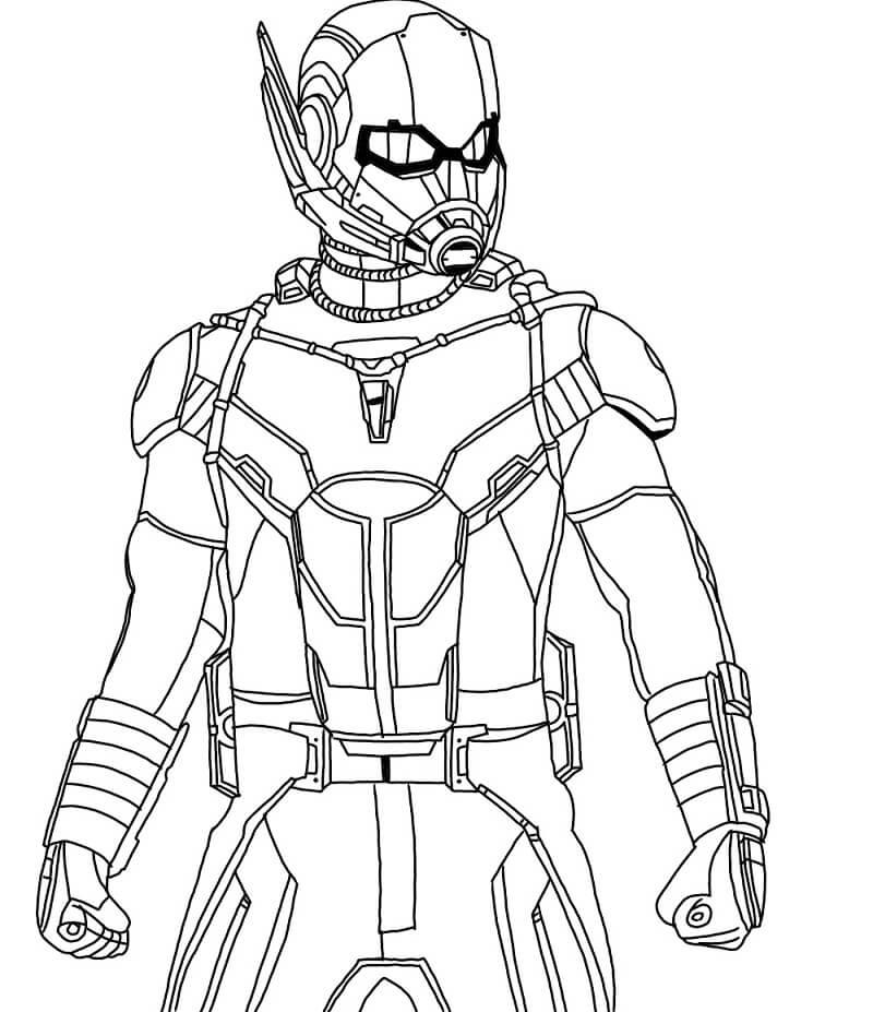 Desenhos de Homem Formiga de Ação 1 para colorir