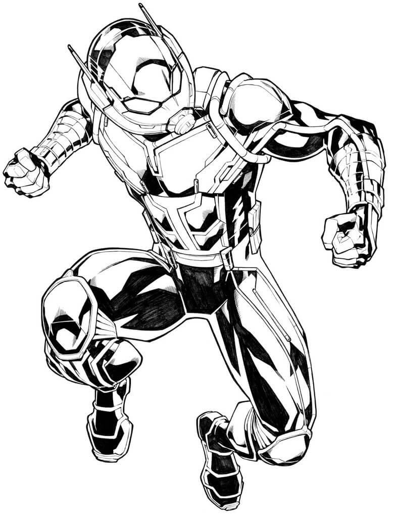 Desenhos de Homem Formiga de Ação 2 para colorir