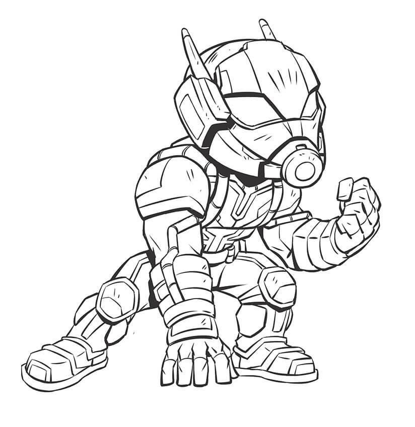 Desenhos de Homem Formiga de Ação 3 para colorir