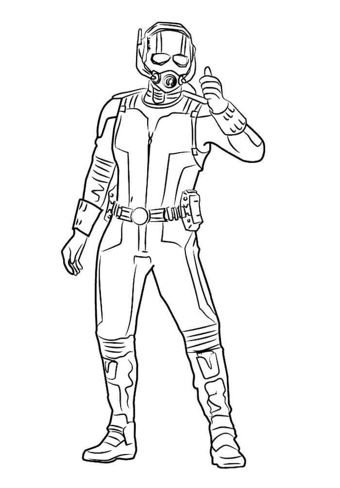 Desenhos de Homem Formiga de Ação 4 para colorir