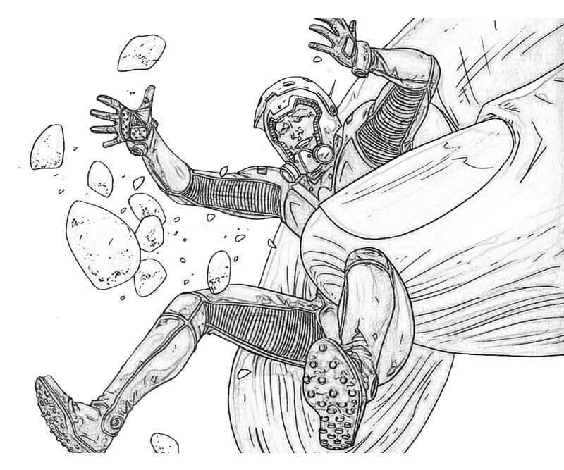 Desenhos de Homem Formiga de Ação 5 para colorir