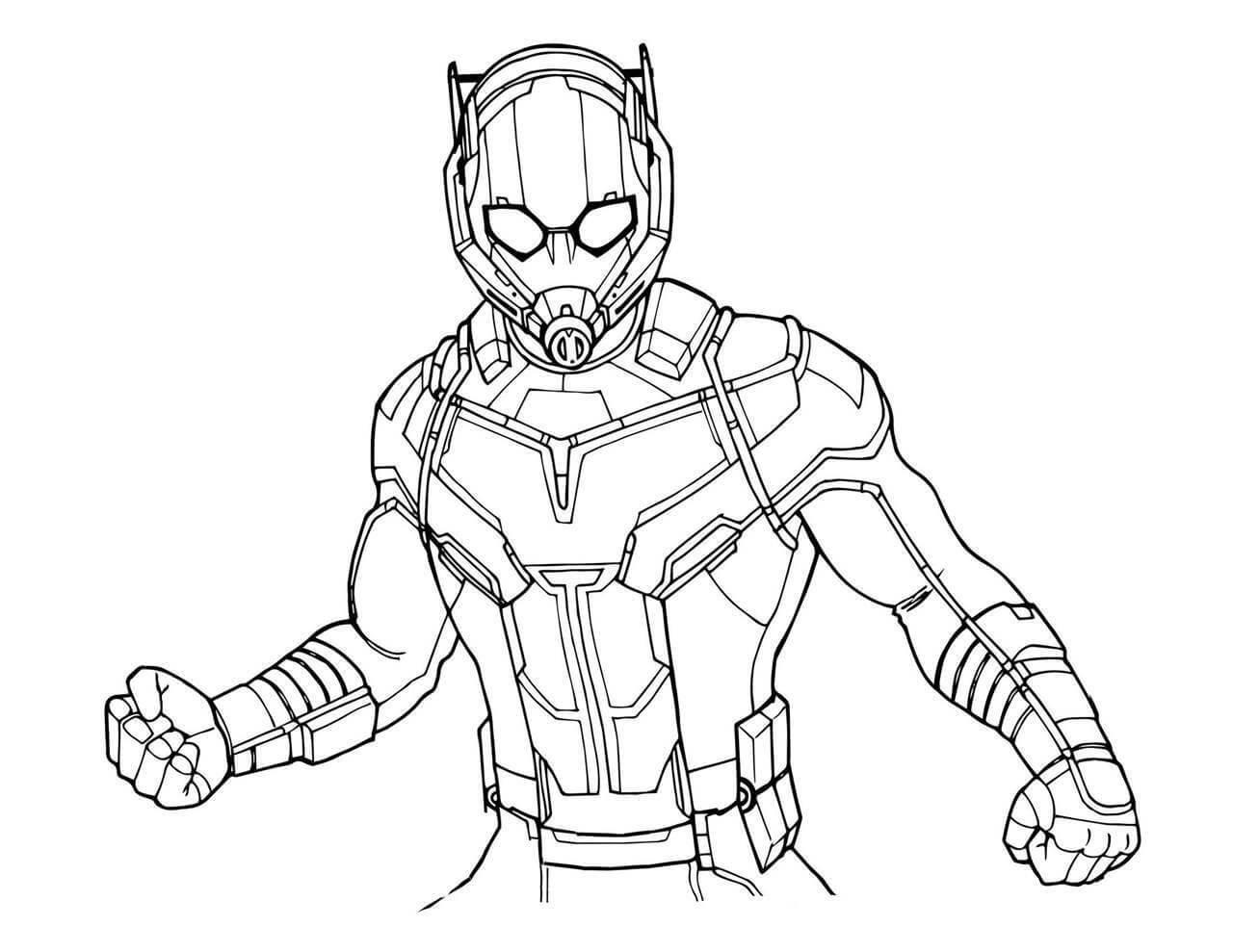 Desenhos de Homem Formiga de Ação 6 para colorir