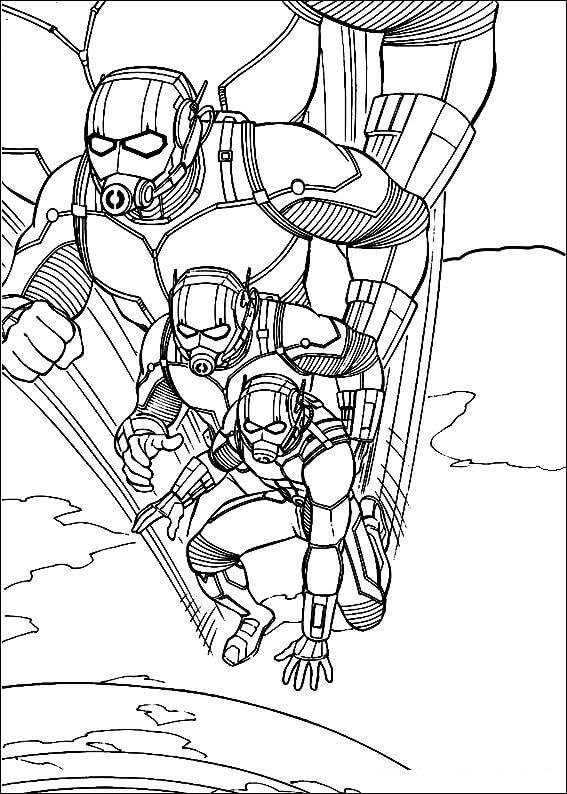 Desenhos de Homem Formiga de Ação para colorir