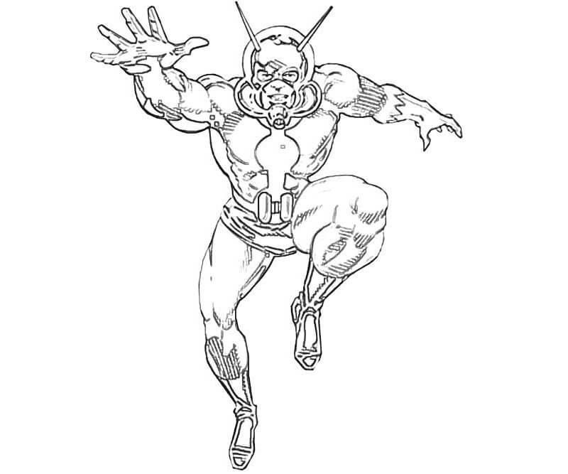 Desenhos de Homem Formiga 6 para colorir