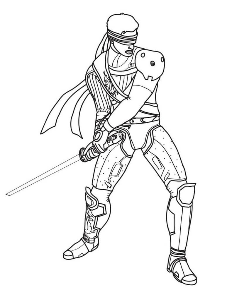 Desenhos de Kenshi Mortal Kombat para colorir