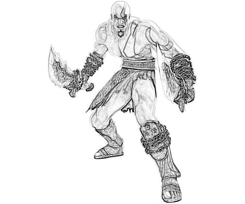 Desenhos de Kratos Incrível 1 para colorir