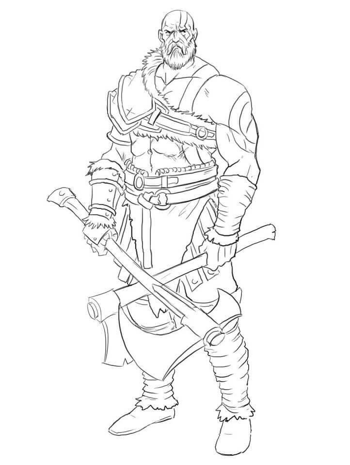 Desenhos de Kratos Incrível 2 para colorir