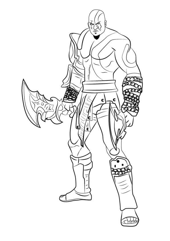 Desenhos de Kratos Incrível 3 para colorir