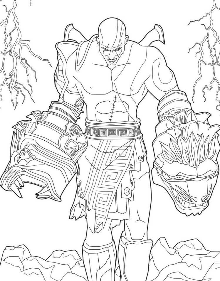 Desenhos de Kratos Incrível para colorir