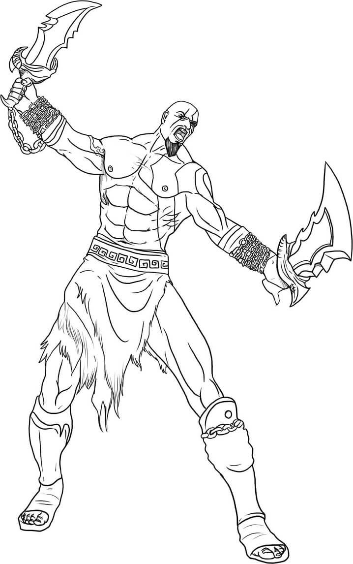 Desenhos de Kratos para Colorir