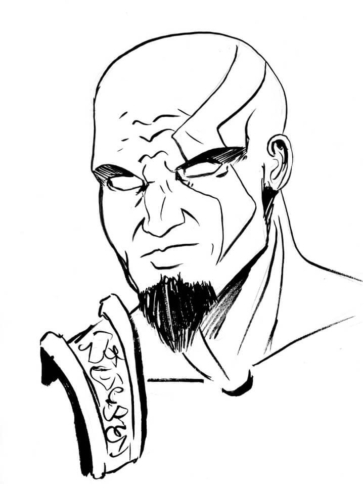 Desenhos de Kratos o Deus 3 para colorir