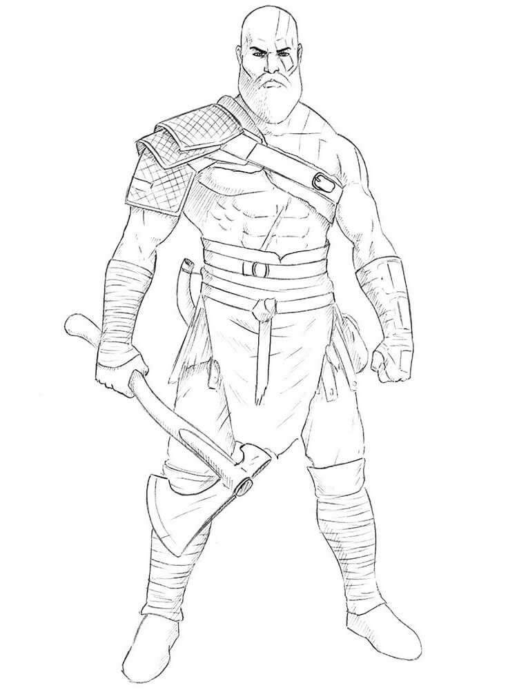Desenhos de Kratos o Deus para colorir