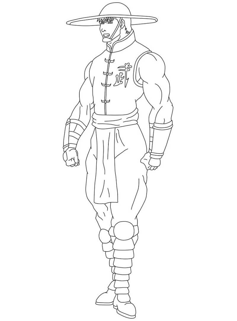 Desenhos de Kung Lao Mortal Kombat para colorir