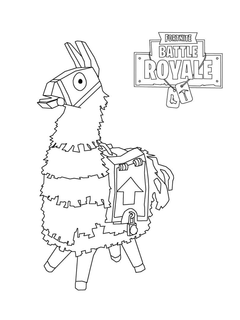 Desenhos de Llama Pinatas Fortnite para colorir