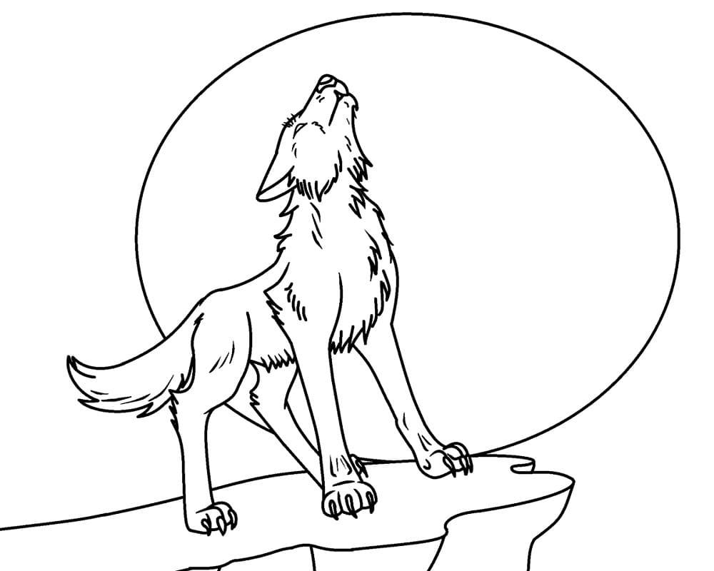 Desenhos de Lobo Selvagem 3 para colorir