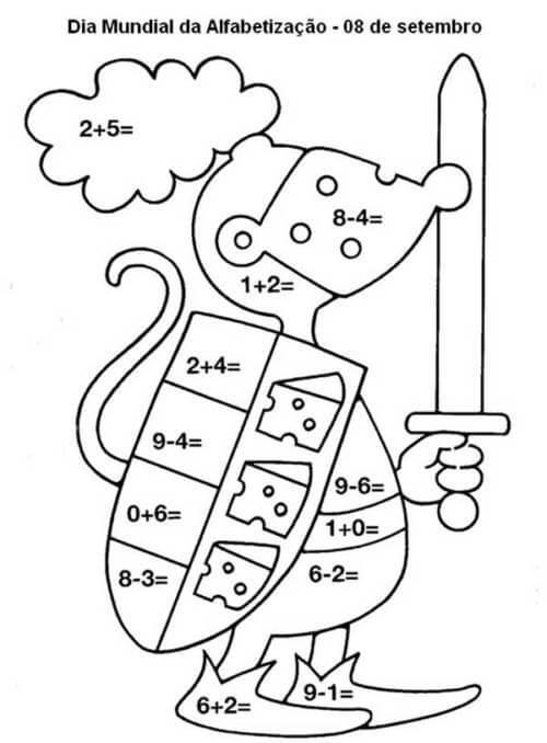 Desenhos de Matemática 11 para colorir