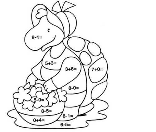 Desenhos de Matemática 12 para colorir
