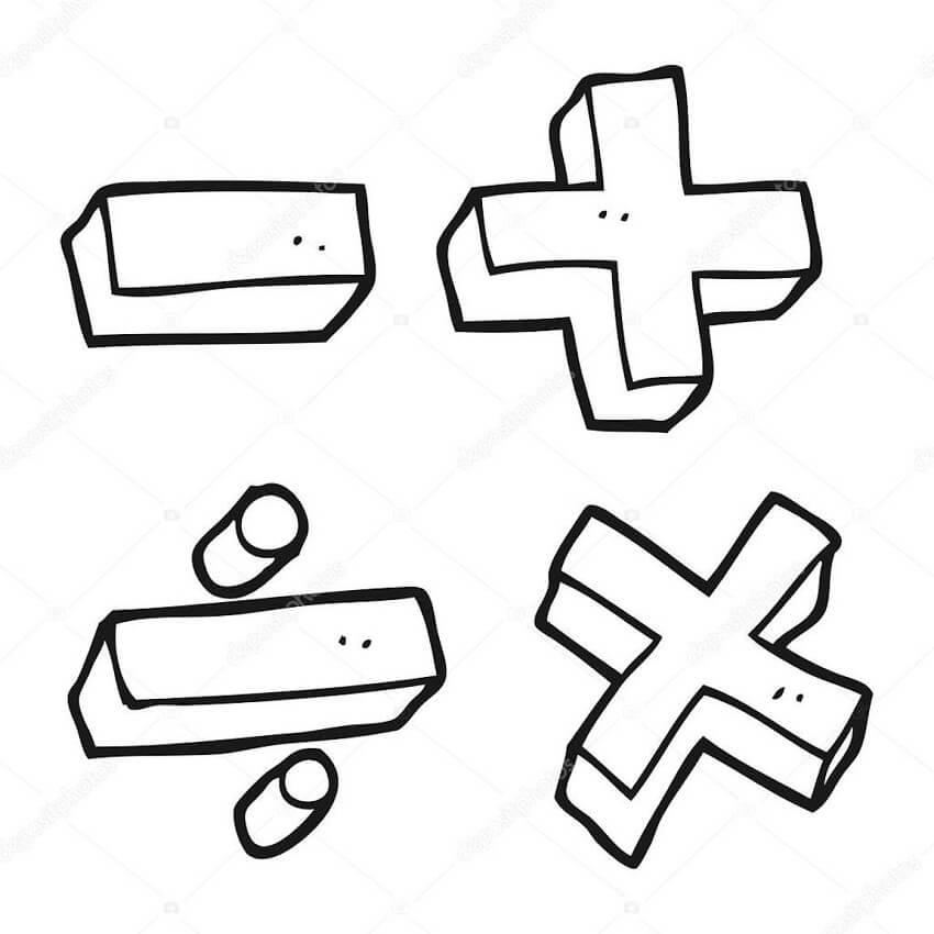 Desenhos de Matemática 18 para colorir