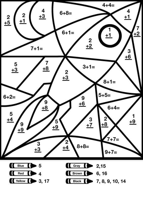 Desenhos de Matemática 2 para colorir