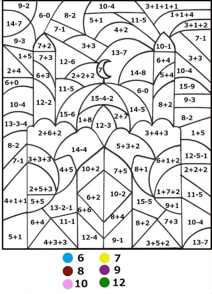 Desenhos de Matemática 5 para colorir
