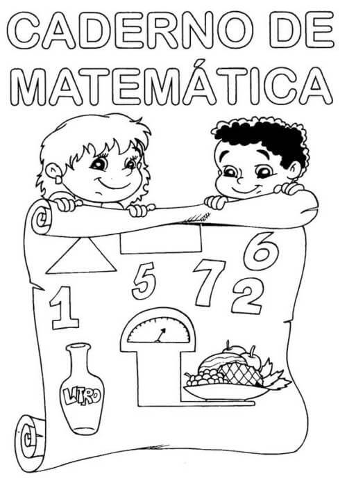 Desenhos de Matemática 8 para colorir