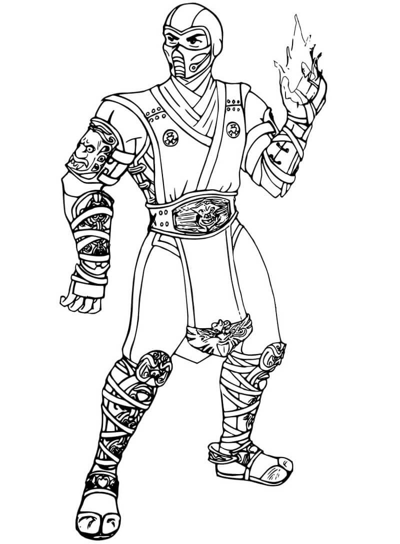 Desenhos de Combate Mortal (Mortal Kombat) para Colorir
