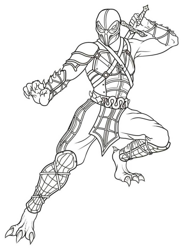 Desenhos de Mortal Kombat 6 para colorir